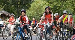 families take part in free cycling event