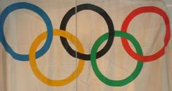 Olympic flag on display