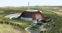 Picture of the porposed waste incinerator