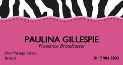 Paulina's business card