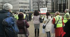 PCS rally in Peterborough