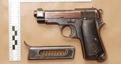 The gun used in the Aldershot triple shooting
