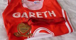Gareth John Marathon medal