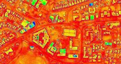 Thermal image of Poole's Civic Centre