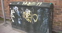 Brighton Graffiti telephone junction box