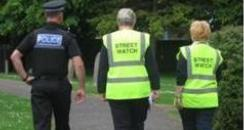 Police Officer and Street Watch volunteers