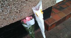 Flowers outside house in Wallasey
