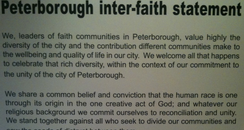Peterborough Interfaith Statement