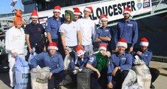 HMS Gloucester away at Christmas