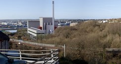 Proposed view of incinerator by nearby houses
