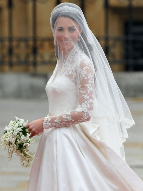Kate Middleton arrives at the royal wedding