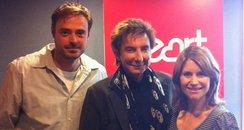 Barry Manilow, Jamie Theakston and Harriet Scott