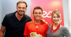 Jamie and Harriet with Tom Daley