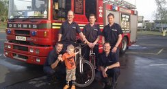 West Midlands firefighters and Josh