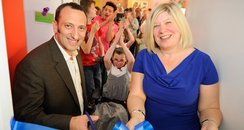 Tony Bloom cuts the ribbon