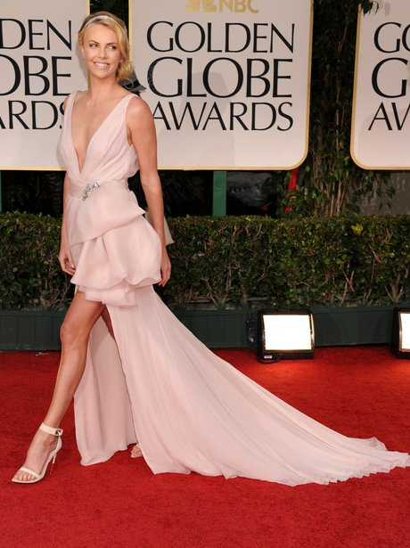 Chalize Theron Best Dressed Golden Globes 2012