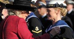 Camilla at HMS Excellent