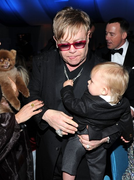 Sir Elton John with Zachary