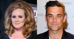 Adele and Robbie Williams