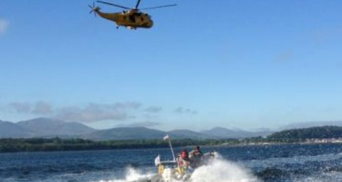 Seaking helicopter over the lifeboat