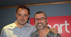 George Michael and Jamie Theakston