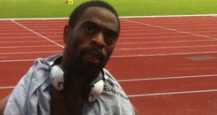 Tyson Gay In Birmimgham