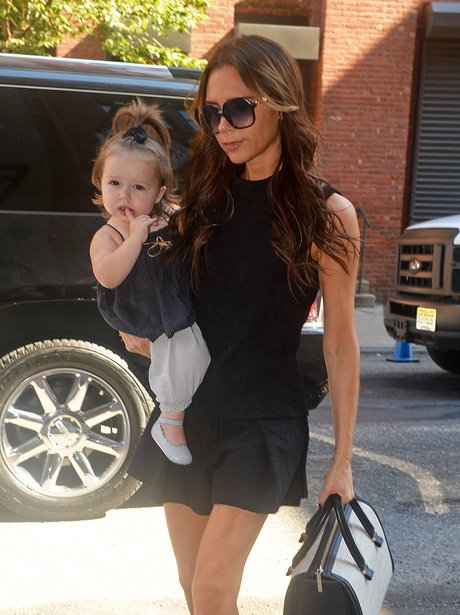Victoria Beckham with Harper in New York