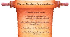 The 10 Facebook Commandments