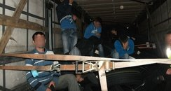 illegal immigrants caught on lorry