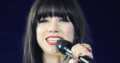 Carly Rae Jepsen performs on stage