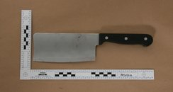 meat cleaver used in braunton robbery