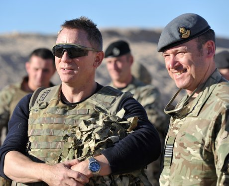Daniel Craig visits troops in Afghanstan