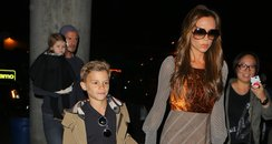 David and Victoria Beckham and Family
