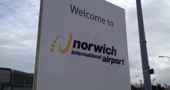 Norwich Airport sign