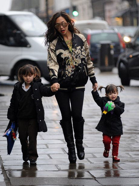 Myleene Klass on the school run
