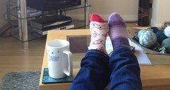 Feet up Tuesday