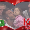 David Beckham and Harper on KissCam
