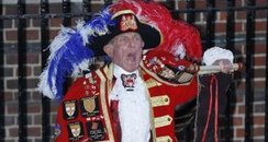Town Crier Tony Appleton announced royal birth