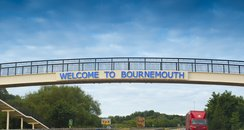 Welcome To Bournemouth Road Sign
