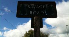 signpost, savage road, barne barton, plymouth