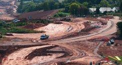 south devon link road, diggers, earthworks