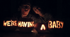 McFly's Tom Fletcher carves pumpkins with his wife