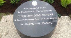 Memorial Stone for Christina