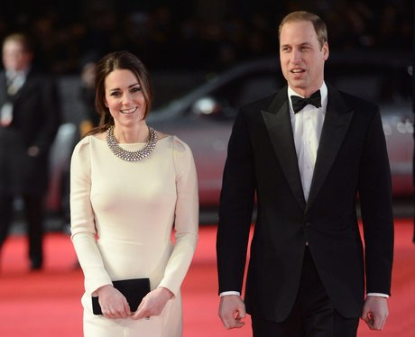 The Duke and Duchess of Cambridge arrive on the red carpet.