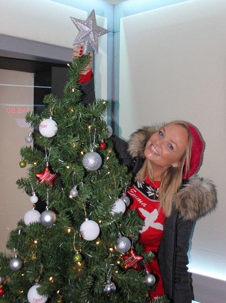 Emma decorating the tree