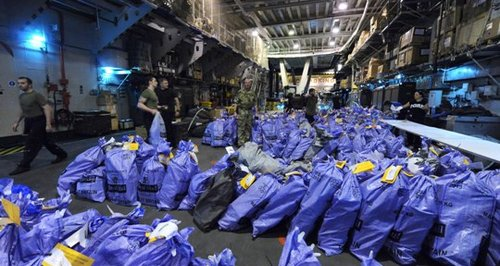 HMS Illustrious Christmas parcels