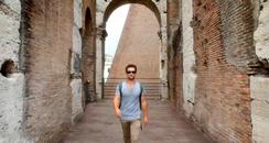 traveller visiting ruins