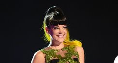 Lily Allen BRIT Awards 2014 On Stage