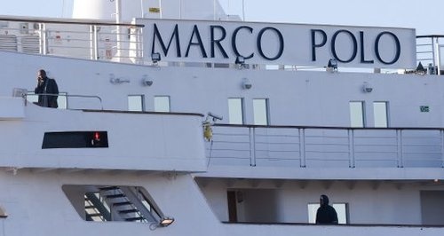 The Marco Polo at Tilbury docks after a man died
