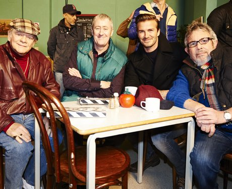 David Beckham on set of 'Only Fools and Horses'